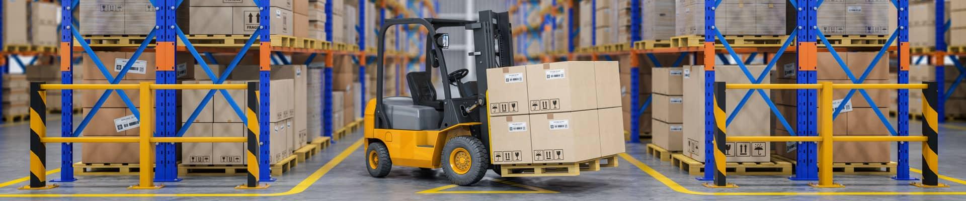 services warehouse forklift header
