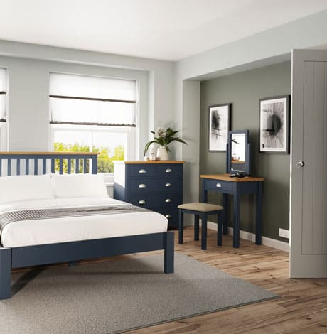 ra blue bedroom roomset